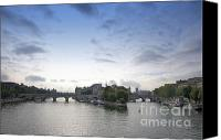 La Seine Canvas Prints - Bridges on river Seine. Paris. France Canvas Print by Bernard Jaubert