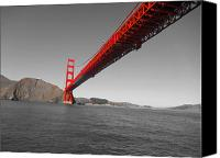 Golden Gate Canvas Prints - Bridgeworks Canvas Print by Douglas Barnard
