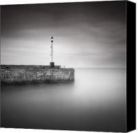 Mono Canvas Prints - Bridlington Harbour Canvas Print by Ian Barber