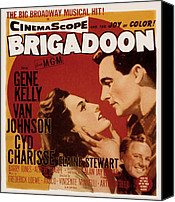 Charisse Canvas Prints - Brigadoon, Cyd Charisse, Van Johnson Canvas Print by Everett