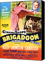 Charisse Canvas Prints - Brigadoon, Top From Left Cyd Charisse Canvas Print by Everett