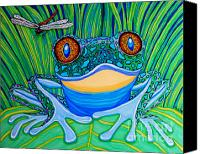 Frog Art Canvas Prints - Bright Eyes 2 Canvas Print by Nick Gustafson