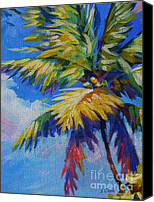 Cuba Painting Canvas Prints - Bright Palm Canvas Print by John Clark