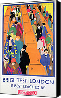 Old Fashioned Painting Canvas Prints - Brightest London is Best Reached by Underground Canvas Print by Horace Taylor