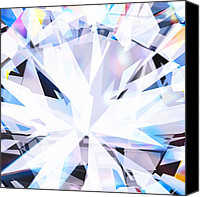 Crystal Jewelry Canvas Prints - Brilliant Diamond  Canvas Print by Setsiri Silapasuwanchai