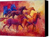 Marion Rose Canvas Prints - Bring the Mares Home Canvas Print by Marion Rose