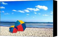 Beach Scenes Canvas Prints - Bring the umbrella with you Canvas Print by Susanne Van Hulst