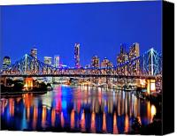 Embrace Canvas Prints - Brisbane In Late Evening Canvas Print by Chris Smith