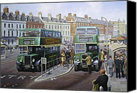 1950s Canvas Prints - Bristols at Weymouth Canvas Print by Mike  Jeffries