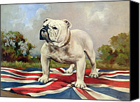 Grb Canvas Prints - British Bulldog Canvas Print by English School