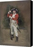 Lobsterback Painting Canvas Prints - British Infantryman c.1777 Canvas Print by Chris Collingwood