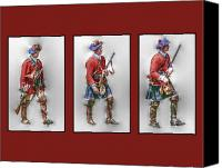 American Special Promotions - British Royal Highlanders Canvas Print by Randy Steele