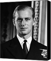 British Royalty Canvas Prints - British Royalty. Lieutenant Philip Canvas Print by Everett