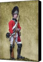 American Revolution Canvas Prints - British Soldier American Revolution Canvas Print by Randy Steele