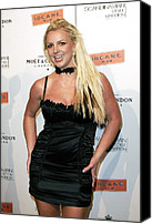 Satin Dress Canvas Prints - Britney Spears At Arrivals Canvas Print by Everett