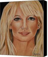 Britney Spears Canvas Prints - Britney Spears Celebrity Painting Canvas Print by Dyanne Parker