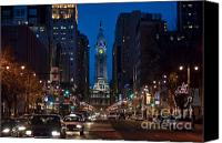 City Hall Canvas Prints - Broad Street Canvas Print by John Greim