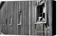 Barn Windows Canvas Prints - Broadside of a barn Canvas Print by David Bearden