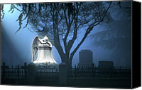 Graveyard Canvas Prints - Broken Angel  Canvas Print by Peter Piatt