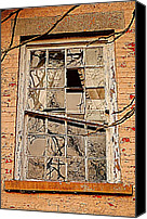 Cabin Window Canvas Prints - Broken Dreams Canvas Print by Robert Harmon