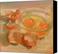 Glass Oil Dish Canvas Prints - Broken Eggs Canvas Print by Brande Arno