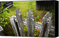 Barkerville Canvas Prints - Broken Fences Canvas Print by Wayne Stadler