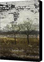 Rural Decay Framed Prints Canvas Prints - Broken Growth Canvas Print by Larysa Luciw