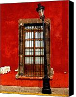 Tlaquepaque Canvas Prints - Broken Lamp Post Canvas Print by Olden Mexico