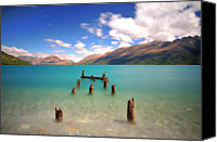 Long Canvas Prints - Broken Pier At Sea Canvas Print by Photography By Anthony Ko