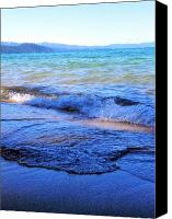 Lake Canvas Prints - Broken Waves Canvas Print by Leah Moore