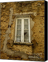 Window And Doors Canvas Prints - Broken Window Canvas Print by Lainie Wrightson