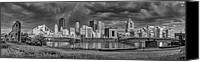 Steel City Canvas Prints - Brooding Above the Burgh Canvas Print by Jennifer Grover