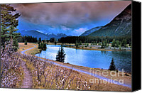 Alberta Landscape Canvas Prints - Brooding Skies Canvas Print by Tara Turner