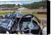 Sports Canvas Prints - Brooklands From the Hot Seat  Canvas Print by Richard Wheatland