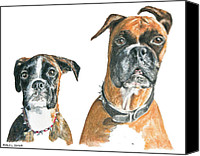 Boxer Pastels Canvas Prints - Brooklyn Boxers Canvas Print by Marla Saville