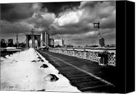 Brooklyn Bridge Canvas Prints - Brooklyn Bridge Canvas Print by Luca Baldassari