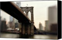 "International Landmark Canvas Prints - Brooklyn Bridge, New York City Canvas Print by Photography by Steve Kelley aka ""mudpig"""