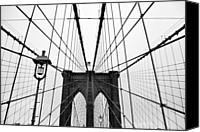 Brooklyn Bridge Canvas Prints - Brooklyn Bridge Canvas Print by Thank you for choosing my work.