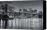 Manhattan Canvas Prints - Brooklyn Bridge Twilight II Canvas Print by Clarence Holmes