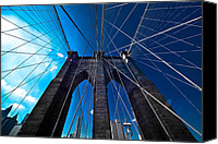 Empire Photo Canvas Prints - Brooklyn Bridge Vertical Canvas Print by Thomas Splietker