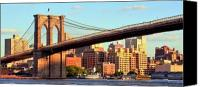 Brooklyn Bridge Canvas Prints - Brooklyn Canvas Print by Mitch Cat