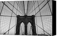 Brooklyn Bridge Canvas Prints - Brooklyns Web Canvas Print by Joshua Francia