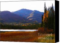 Wiseman Alaska Canvas Prints - Brooks Range Pond Canvas Print by Adam Owen