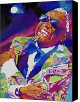 Greeting Cards Canvas Prints - Brother Ray Charles Canvas Print by David Lloyd Glover