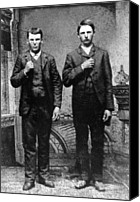 Jesse James Canvas Prints - Brothers In Crime, Jesse And Frank Canvas Print by Everett