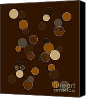 1970 Canvas Prints - Brown Abstract Canvas Print by Frank Tschakert