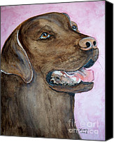Cannine Canvas Prints - Brown Lab Canvas Print by Carol Grimes