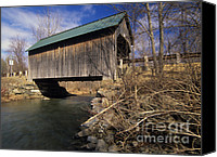 Drive Canvas Prints - Brownsville Covered Bridge - Brownsville Vermont Canvas Print by Erin Paul Donovan