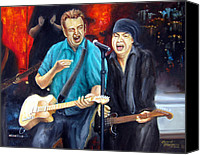 E Street Band Canvas Prints - Bruce and Steven at the Apollo Canvas Print by Leonardo Ruggieri