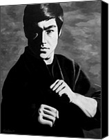 Martial Arts Canvas Prints - Bruce Lee Canvas Print by Rick Ritchie